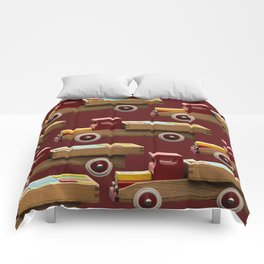 Vintage wooden toy truck #decor #society6 #buyart Comforters