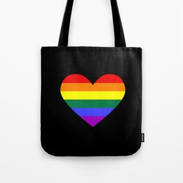 gay pride heart Tote Bag