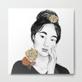 Flower sun bursts - floral portait 3 of 3 Metal Print