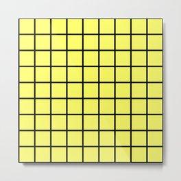 yellow square Metal Print