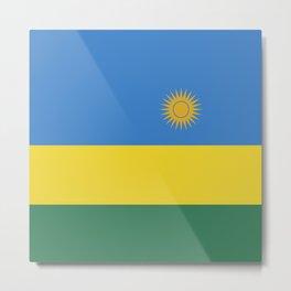 Rwanda flag emblem Metal Print