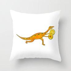 Cymbal-o-saurus! Throw Pillow