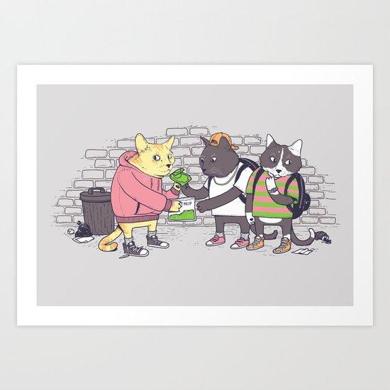 Meowy Wowy Art Print