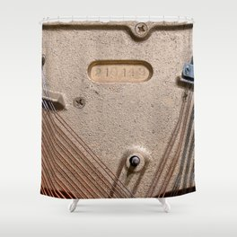 Abstract Piano Wires Shower Curtain