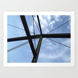 From the bridge, looking up Art Print