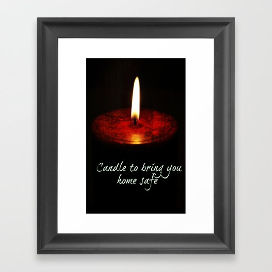 A candle to bring you home Framed Art Print