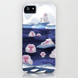 snow monkeys iPhone Case