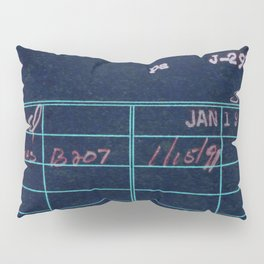 Library Card 797 Negative Pillow Sham