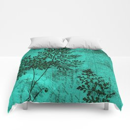 Botanical Turquoise Comforters
