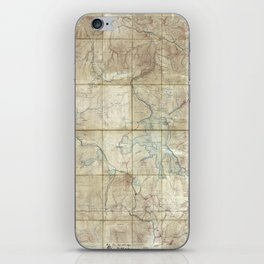 Map of Yellowstone National Park (1886) iPhone Skin