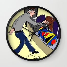 Lipton's  Duffle Bags easily spotted!            by Kay Lipton Wall Clock