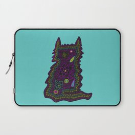 Black Cat With Roses Laptop Sleeve