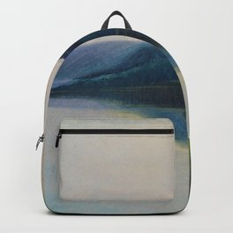 Serenity, Peace, & Quiet of the Early Morning Island landscape by Mikalojus Konstantinas Ciurlionis Backpack