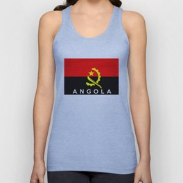 Angola country flag name text Unisex Tank Top