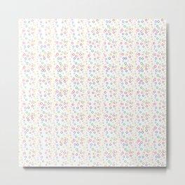 Random Dot Rings Pattern Metal Print