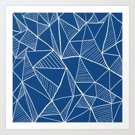 Cyanotype pyramid pattern Art Print