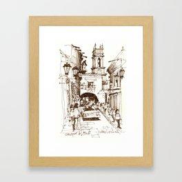 Street life, San Miguel de Allende Framed Art Print