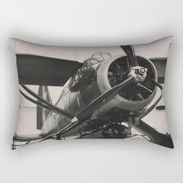Vintage Military propeller aircraft photo print. Rectangular Pillow