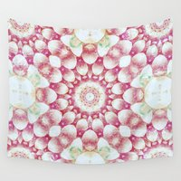 pomegranate Wall Tapestries featuring Pomegranate by Truly Juel