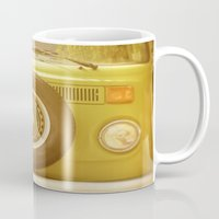 vw Mugs featuring Retro VW by ShadeTree Photography