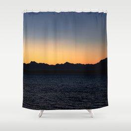 Running Towards the Sun Shower Curtain