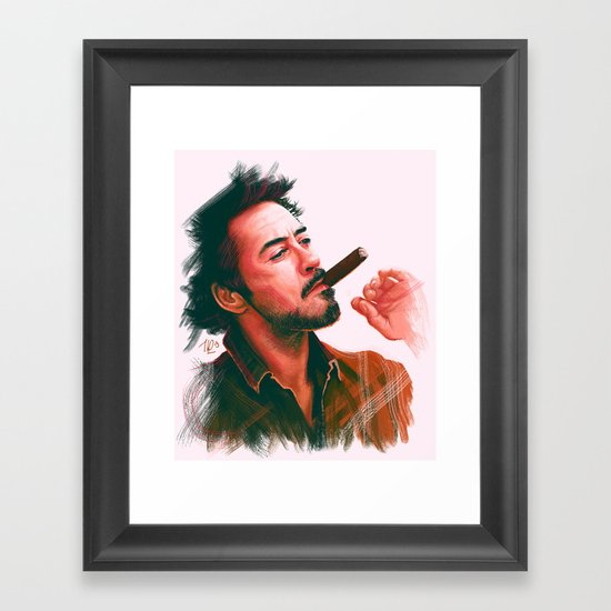 Mr Downey, Jr. Framed Art Print