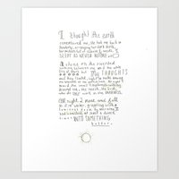 poem Art Prints featuring Nature Poem by alyssajeandreamer