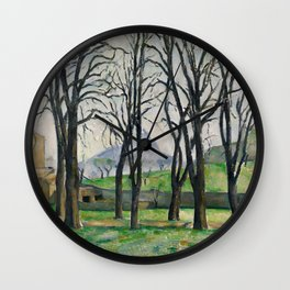 Paul Cezanne - Chestnut Trees at Jas de Bouffan Wall Clock