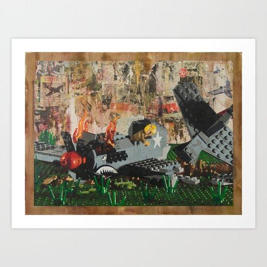 P40 Crash Art Print