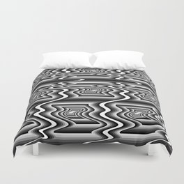 Grey Optical Pattern Duvet Cover
