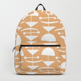 Retro Mid Century Modern Abstract Mobile 731 Harvest Gold Backpack
