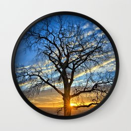 Sunburst Cottonwood 2 Wall Clock