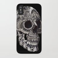 bioworkz iPhone & iPod Cases featuring Ornate Skull by BIOWORKZ