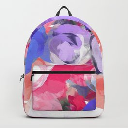 Flower Power in Pink, Purple, Peach and White Backpack