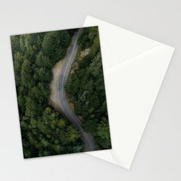 NATURE - PHOTOGRAPHY - FOREST - HIGHWAY - ROAD - TRIP - TREES Stationery Cards