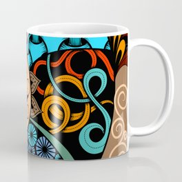 Hand-drawn ethno zentangle pattern, tribal background African sty. Beautiful, africa. Coffee Mug