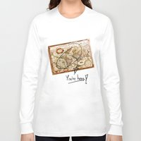 vintage map Long Sleeve T-shirts featuring Vintage Map by Diego Tirigall