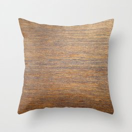 Rustic brown gold wood texture Throw Pillow