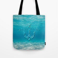 Anchor in the sea Tote Bag
