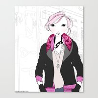 jenna kutcher Canvas Prints featuring FASHION GIRL ~ Jenna by the Twenty5 Project