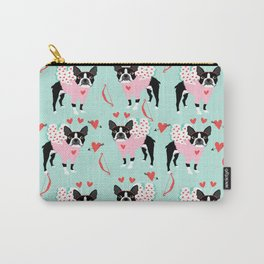 Boston Terrier valentines day cute dog gifts pure breed rescue dogs must haves Carry-All Pouch