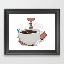 KeithHaring coffee Framed Art Print