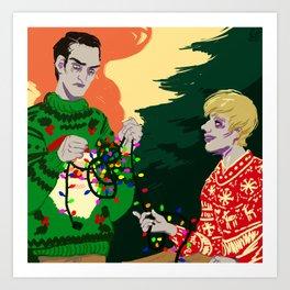 A Zombie Christmas Art Print