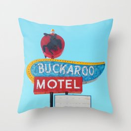 Buckaroo Motel Throw Pillow