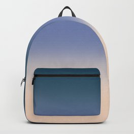Blue , beige , yellow , Ombre Backpack