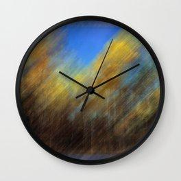 Golden Aspen Trees Autumn Color Wall Clock