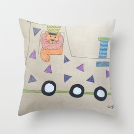 Animal Train Throw Pillow