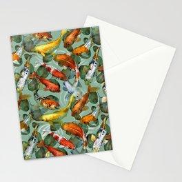 koi carp Stationery Cards