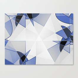 blue background for home decor Canvas Print
