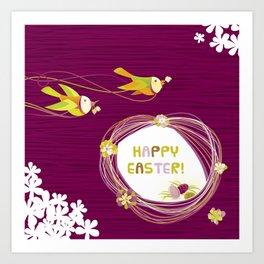 Easter Birds Art Print